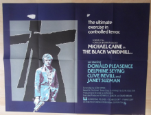 Black Windmill. Original UK Quad Poster, Michael Caine, * Don Siegel film * '74